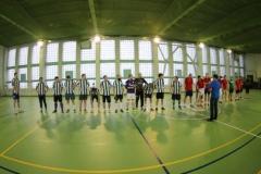 Светлый спортивный зал для игры в мини футбол